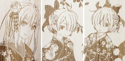 Re:Zero − Starting Life in Another World wall scroll set