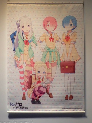 Re:Zero Wall Scroll - Emilia, Rem & Ram uniform