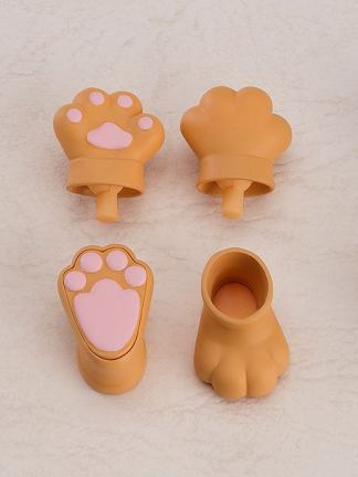 Nendoroid Doll Animal Hand Parts Set - Ruskea