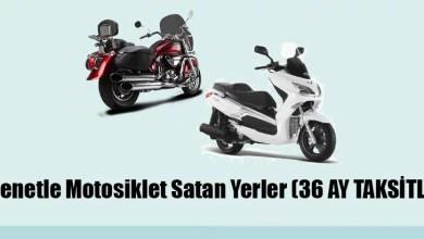 Senetle Motosiklet Satan Yerler