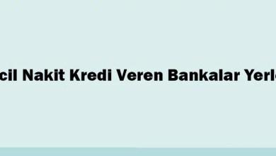 Acil Nakit Kredi Veren Bankalar Yerler
