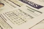 Zeitung Börsenkurse