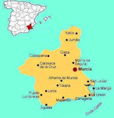 Situation of Murcia