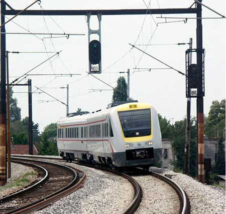 Un train InterCity croate