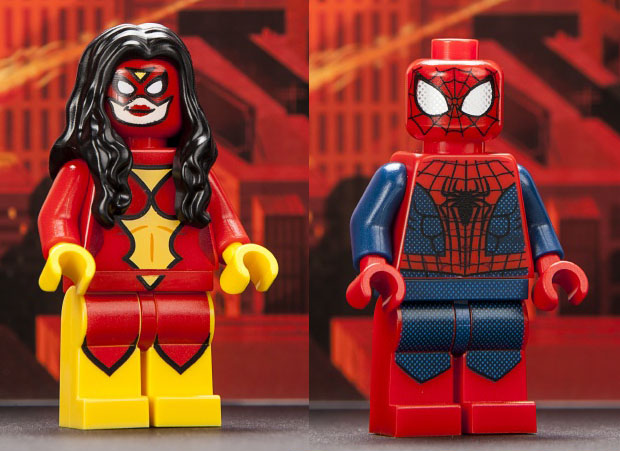 lego minifig 2013 San Diego Comic-Con Spider-Man and Spider-Woman