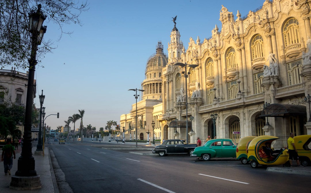 Havana Capitilio and taxis.