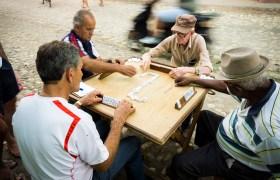 POW: Old men playing dominoes in Trinidad Cuba