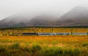 POW: Train in the Fall Colours of Alaska