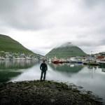 Ben Campbell in Klaksvik harbour.