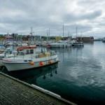 Colourful buildings in harbour of Torshavn.