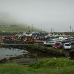 Whale hunting in Faroe Islands.