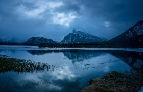 POW: Rundle Mountain from Vermillion Lakes in Banff
