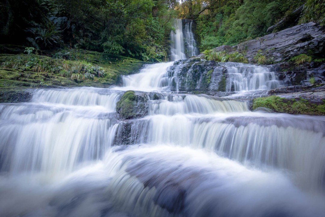 Streamy Waterfall with Tiers Named McLean Falls