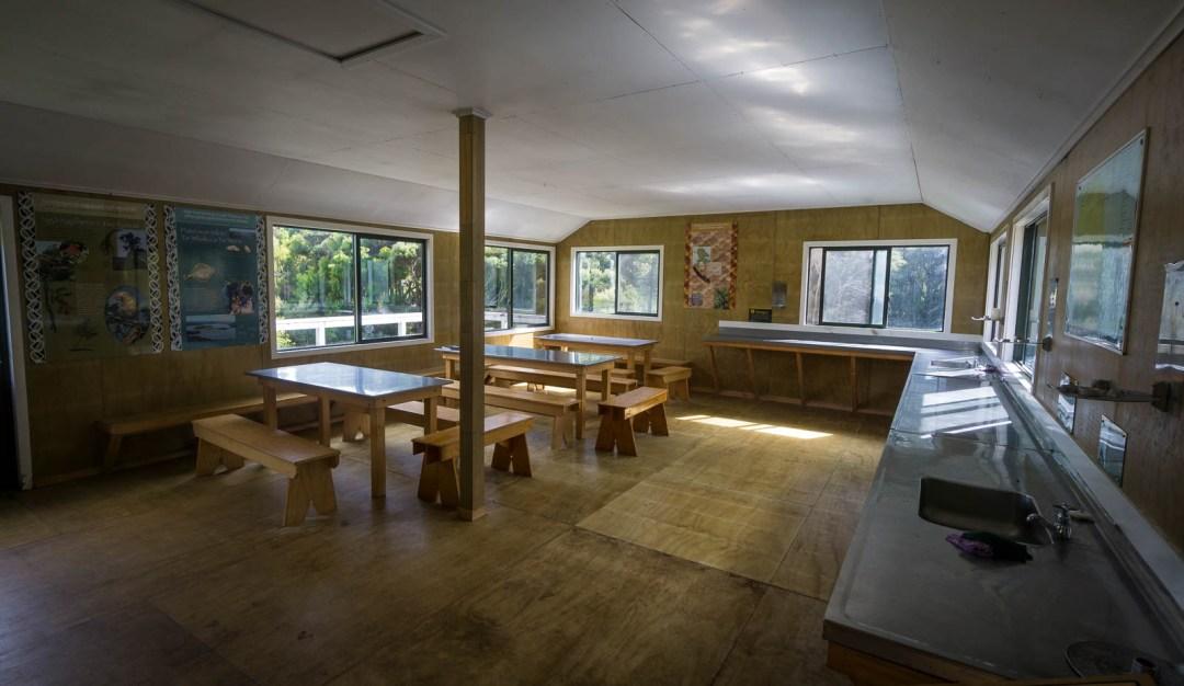 Inside North Arm Hut Facilities Stewart Island
