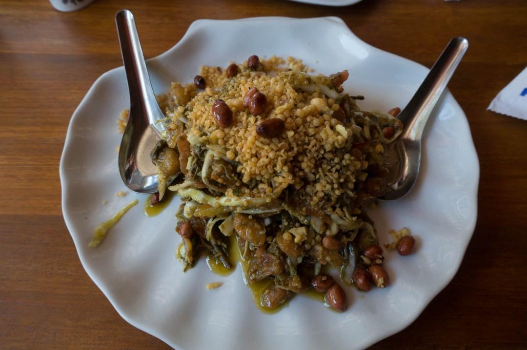 Tea leaf salad Burmese food