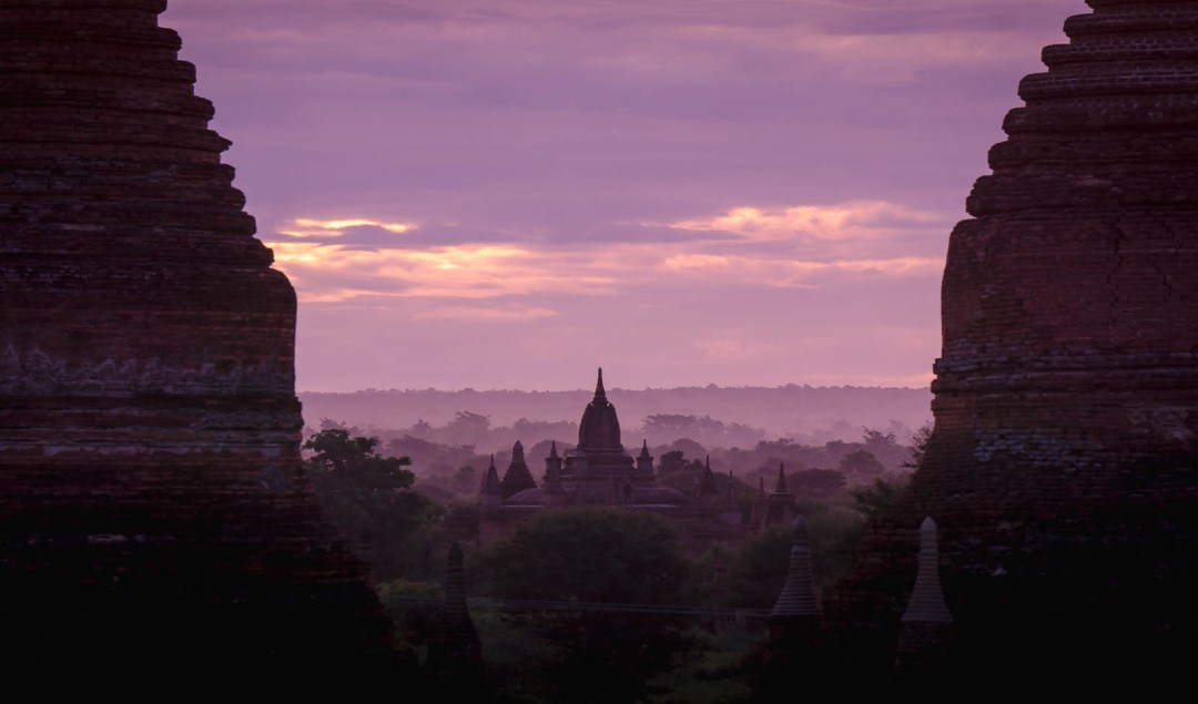 Temple at sunrise in bagan from Bulethi
