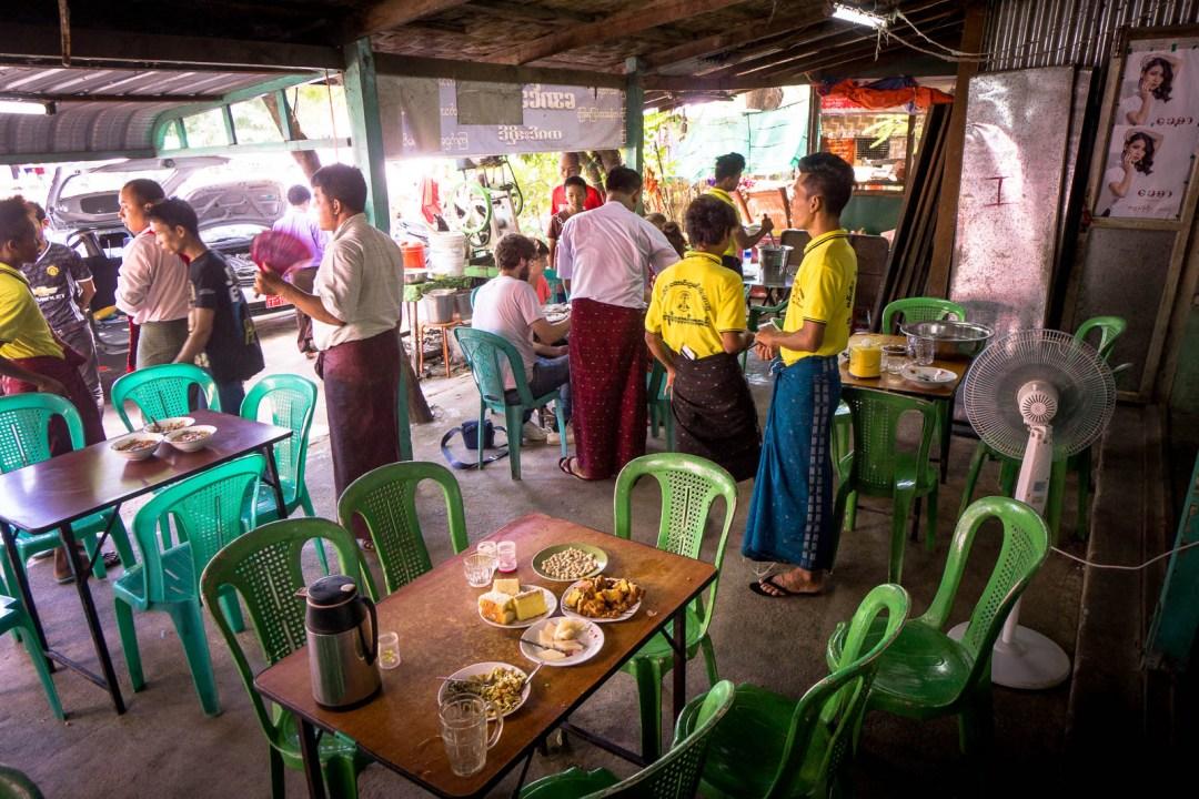 Traditional Burmese lunch