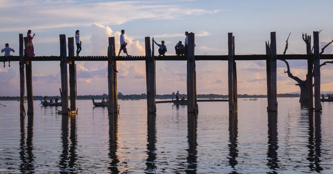 U Bien bridge at sunset