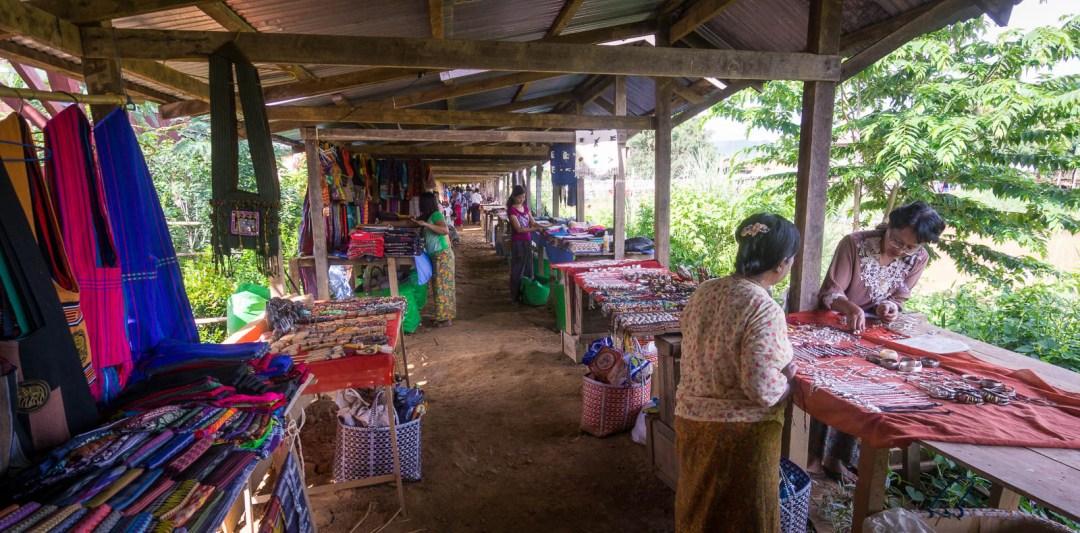 Weekly market at Inle Lake