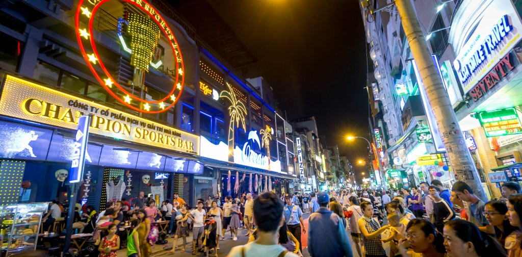 Busy street in Ho Chi Minh