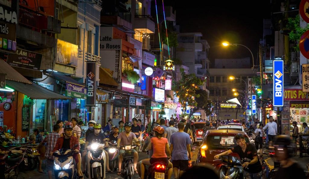 Busy street in Saigon