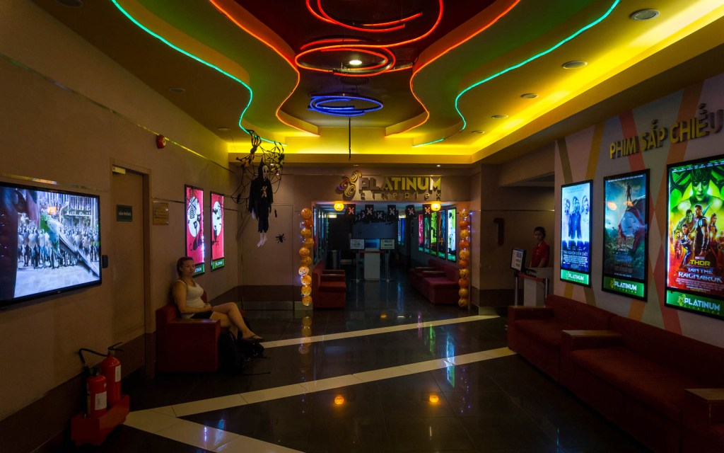 Inside of movie theatre in Nah Trang