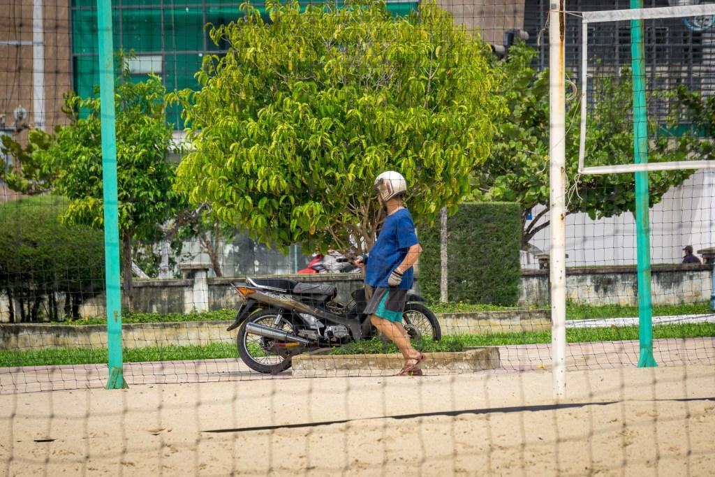 Man excercising in Nah Trang