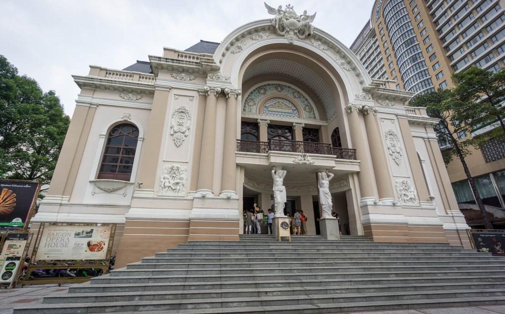 Saigon opera house from street