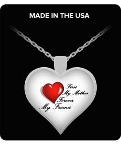 Heart Pendant Necklace-red heart