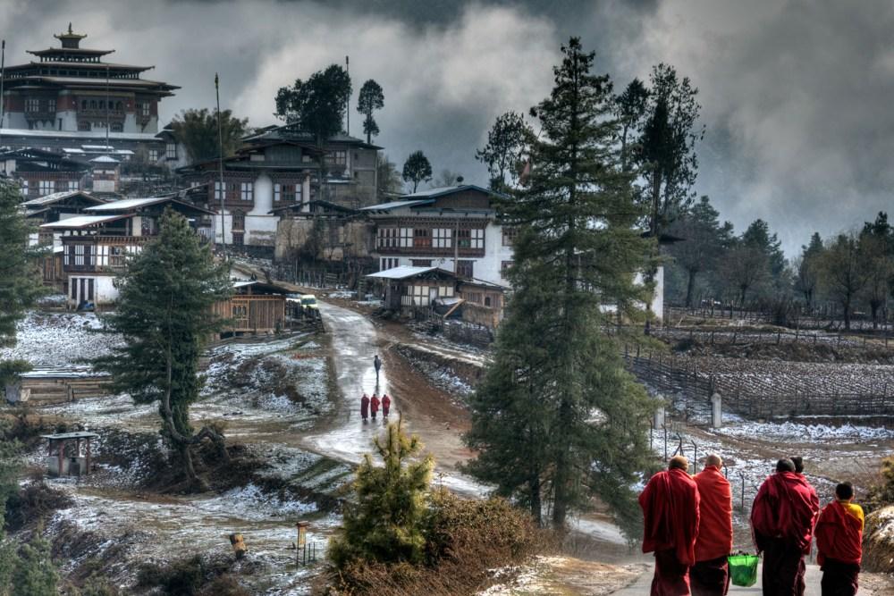 Gangteng Monastery monk walking