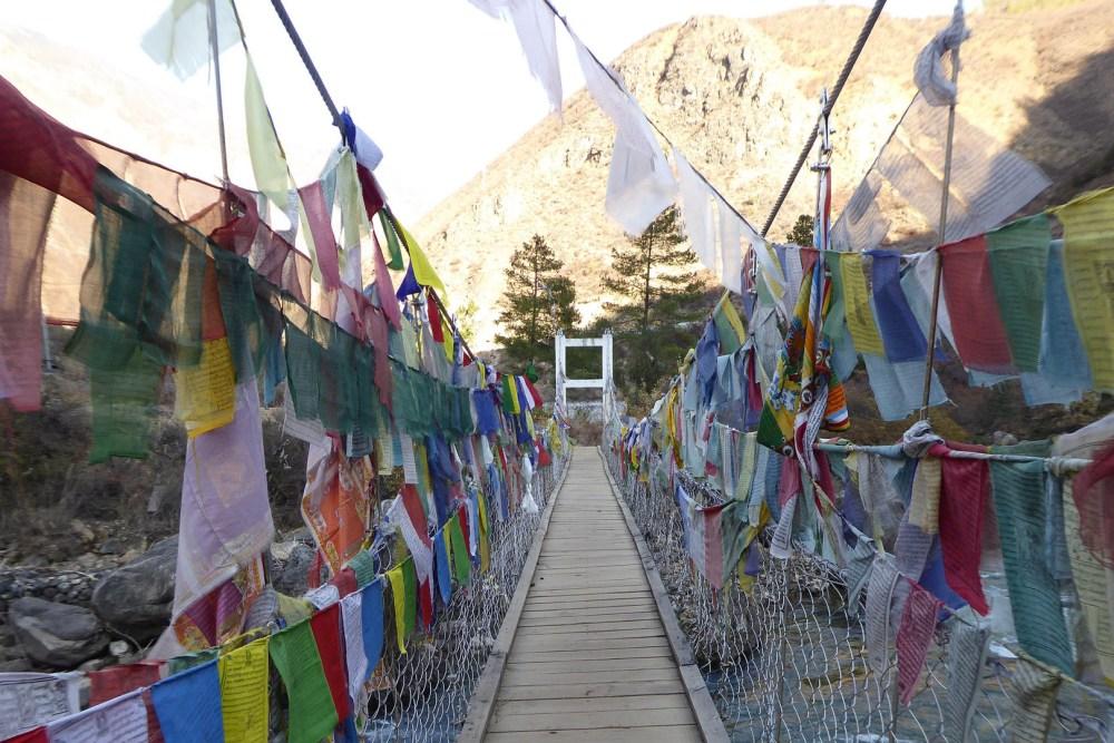 Tamchog Bridge Prayer Flags