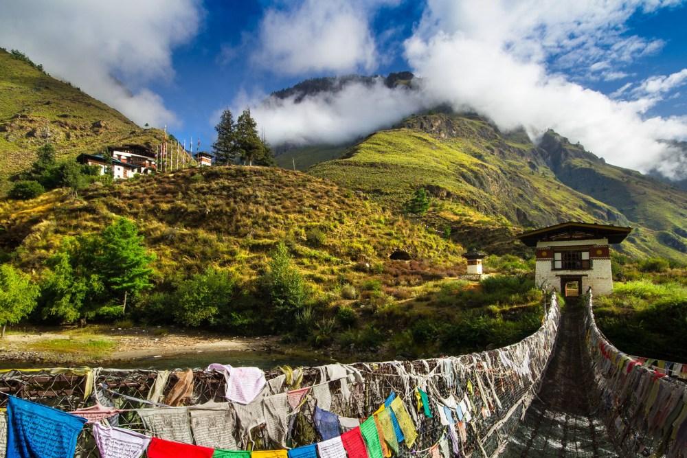 Tamchog Lhakhang Green view