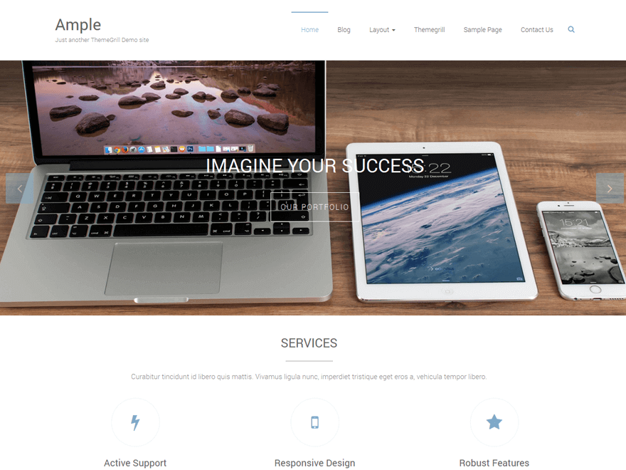 Ample Gratis WP Theme