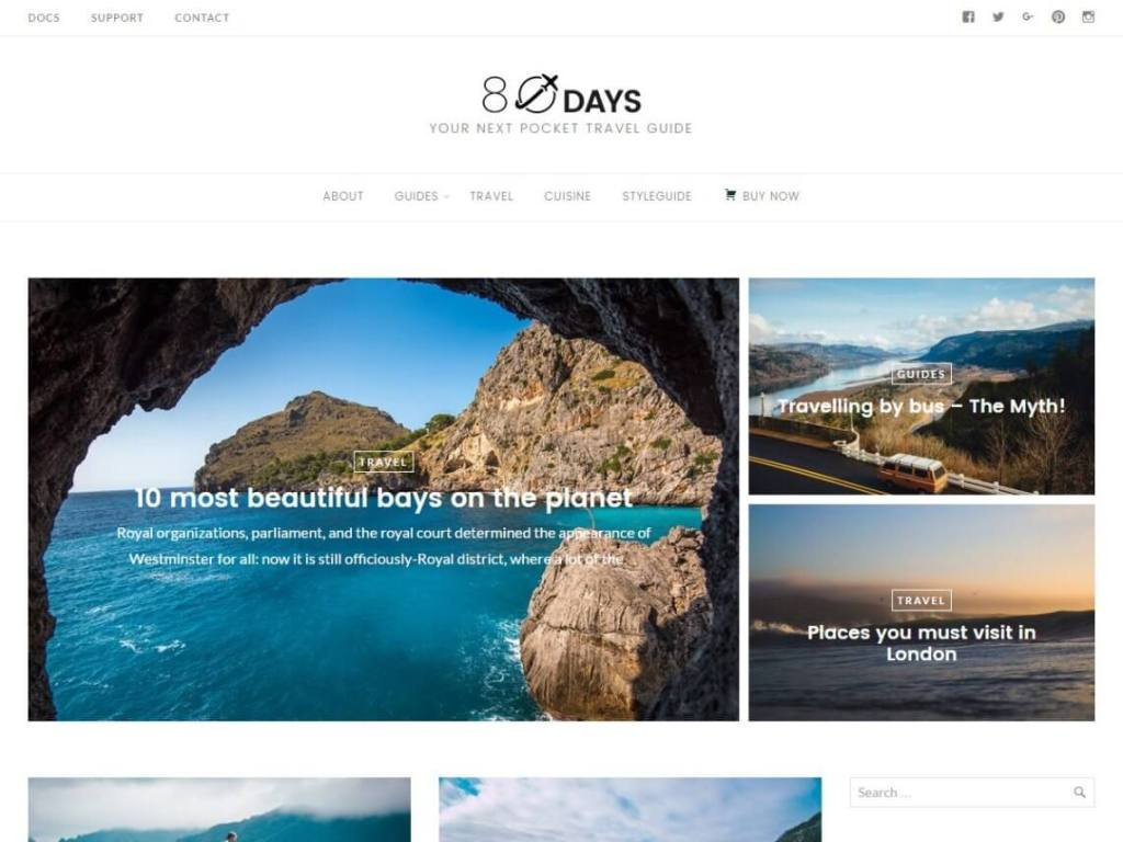 Eightydays WordPress Theme