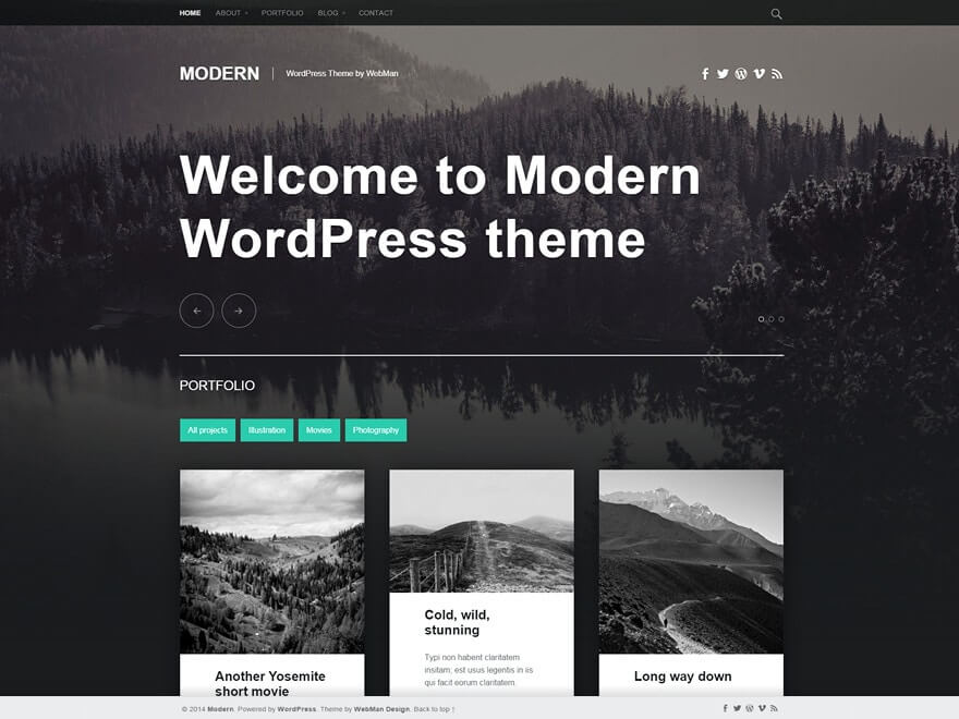 Modern Gratis WordPress Theme