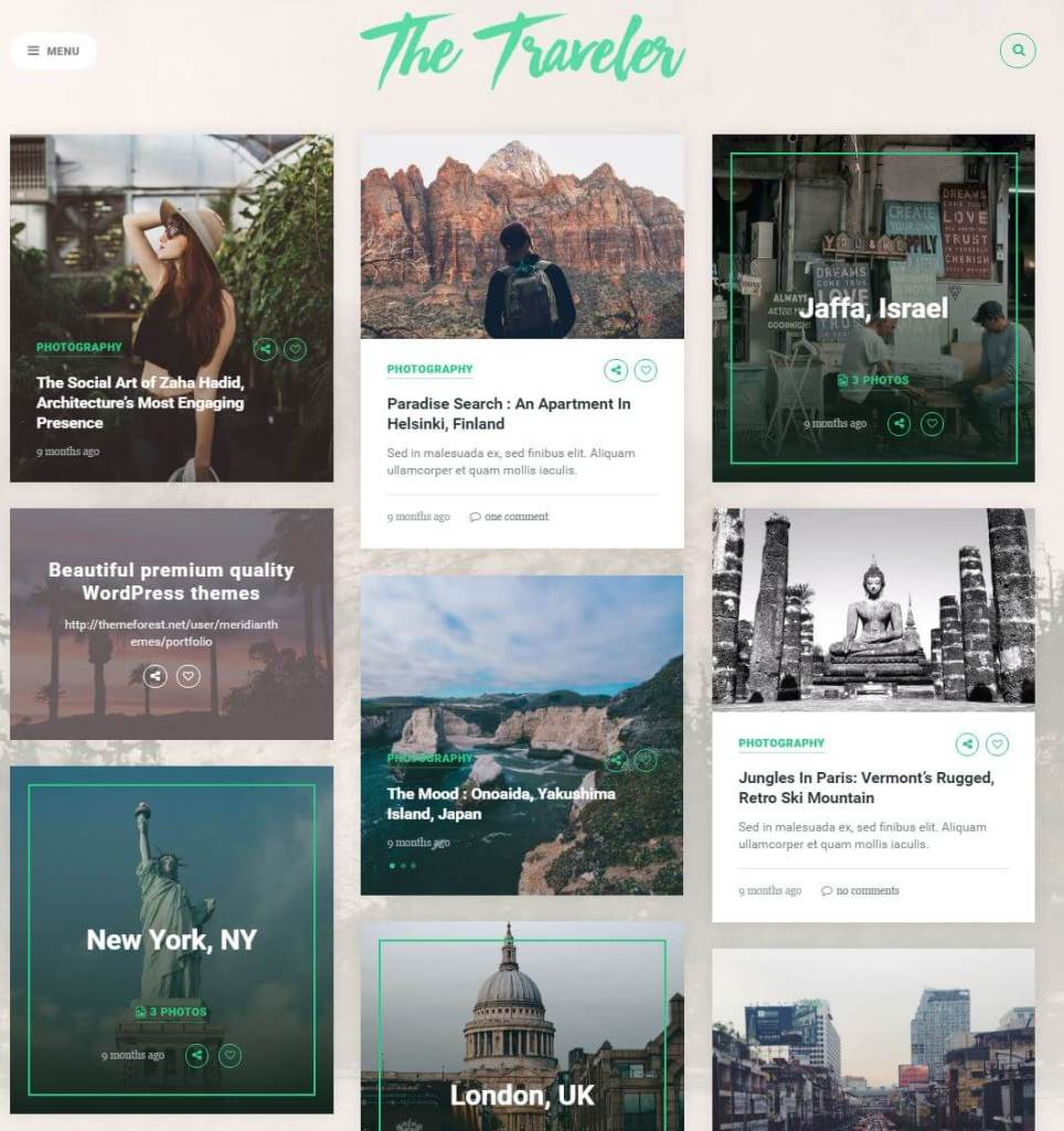 The Traveler WordPress theme