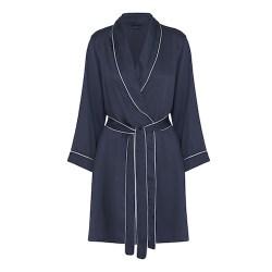 Bambus kimono - kort model - navy blue