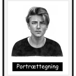 Portrættegning efter dine fotos