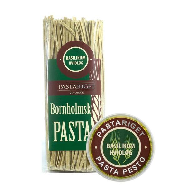 Basilikum Hvidløgs Pasta & Pesto, Pastariget Bornholm