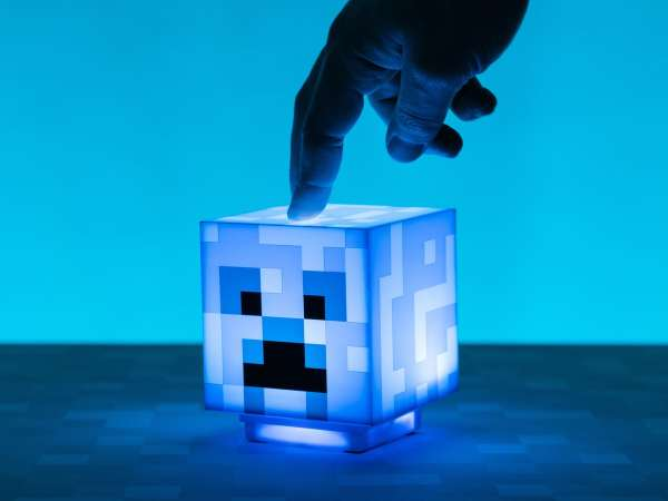 Minecraft Charged Creeper Lampe