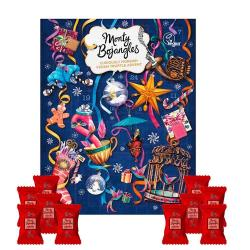 Julekalender med chokoladetrøfler (VEGANSK), Monty Bojangles +10GRATIS flowpacks (presale)
