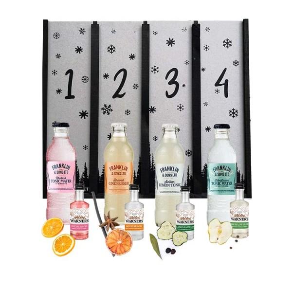 Adventskalender med aromatisk gin fra Warner's, garniture & Franklin Tonic