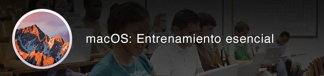 Encabezado macOS: Entrenamiento esencial