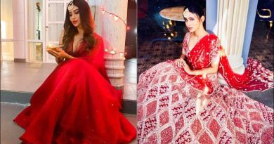 Mouni Roy deletes pictures in sultry red lehenga choli, replaces them with another ethnic Diwali look
