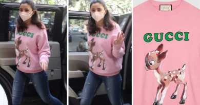 Alia Bhatt aces comfy winter fashion in Rs 97k Gucci sweater with Bambi-like fawn as she heads for Brahmastra dubbing