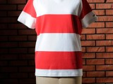 FK-TEE BORDER S/S (RED)