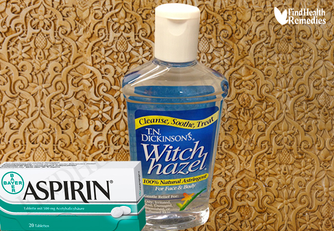 Aspirin and Witch Hazel for Pimples