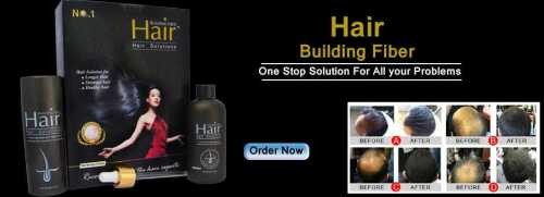 Hair building fibre hair solution