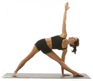 triangle pose