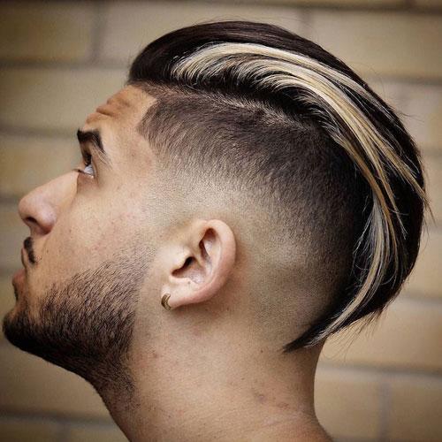 Uzun Saçlarda Slick Back Fade